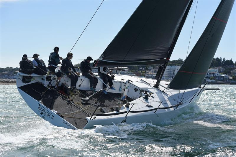 Mike Bartholomew's GP42 Tokoloshe II was the overall winner of RORC Race the Wight - photo © Rick Tomlinson