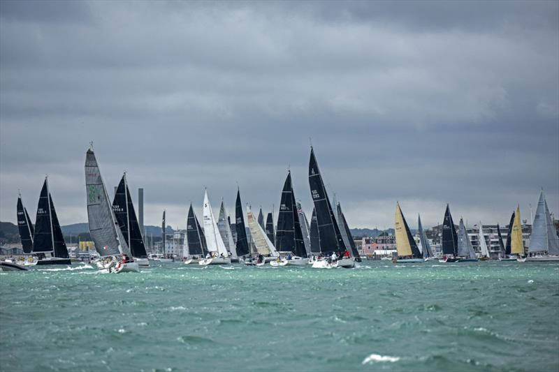 RORC Fleet back racing in RORC Race the Wight - photo © Rick Tomlinson