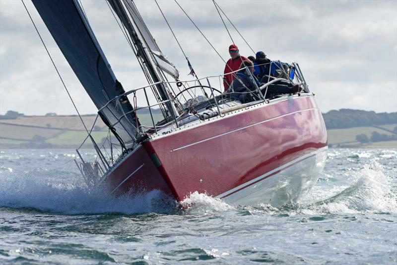 Ross Applebey's Oyster 48 Scarlet Oyster was the winner of IRC Two in RORC Race the Wight - photo © Rick Tomlinson