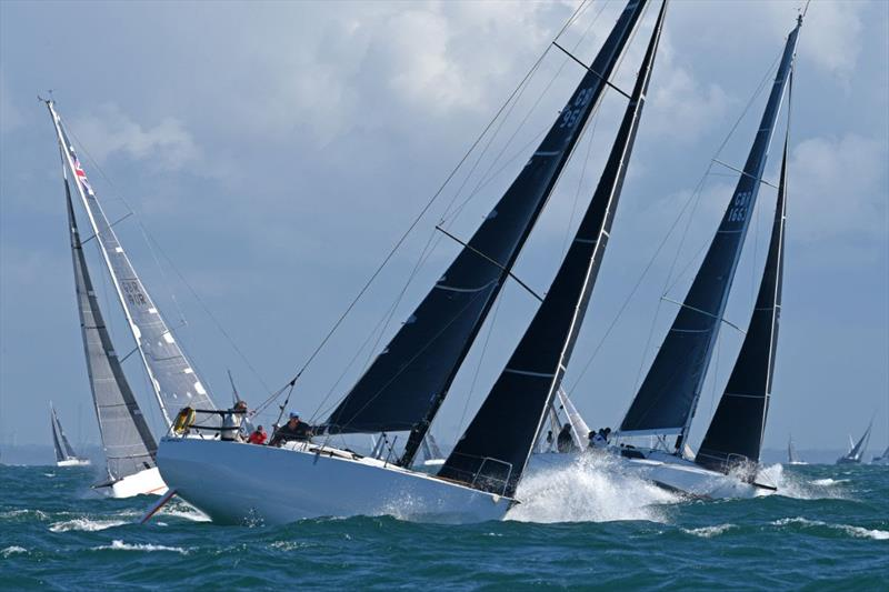 Over 40 yachts raced with just two crew in RORC Race the Wight IRC Two-handed. Richard Palmer racing JPK 10.10 Jangada, with Jeremy Waitt, won the contest - photo © Rick Tomlinson