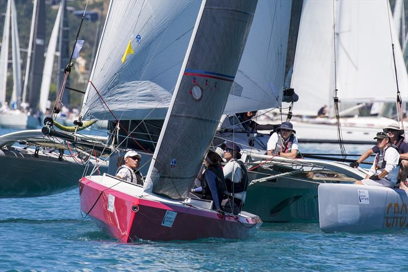 Multis mix it with monohulls in last year's mass start - Airlie Beach Race Week - photo © Andrea Francolini