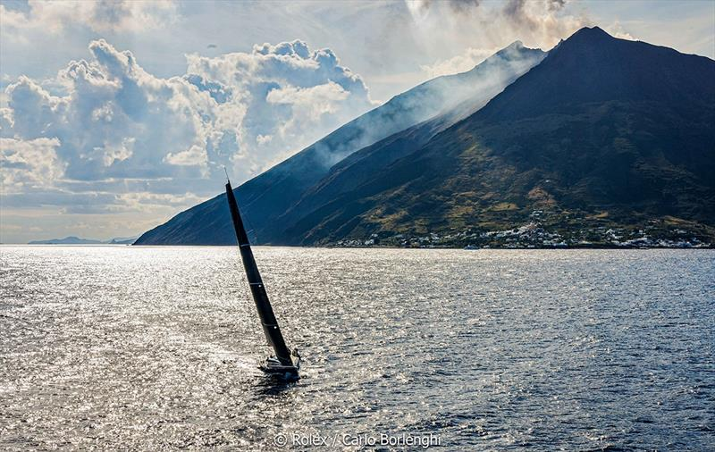 Rolex Middle Sea Race  - Balthasar; Sail n°: BEL 5012; Model: Swan 50; Entrant: Louis Balcaen; Country: BEL; Skipper: Louis Balcaen; Loa: 15,24; IRC: Class 2; ORC: undefined; MH:passage Aeolian Island - photo © Rolex / Carlo Borlenghi
