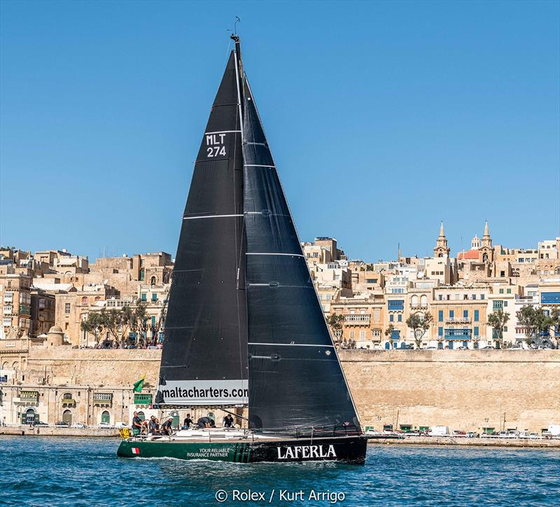 Rolex Middle Sea Race - Ton Ton Laferla, Sail No: MLT274, Model: Dufour 44R - photo © Kurt Arrigo