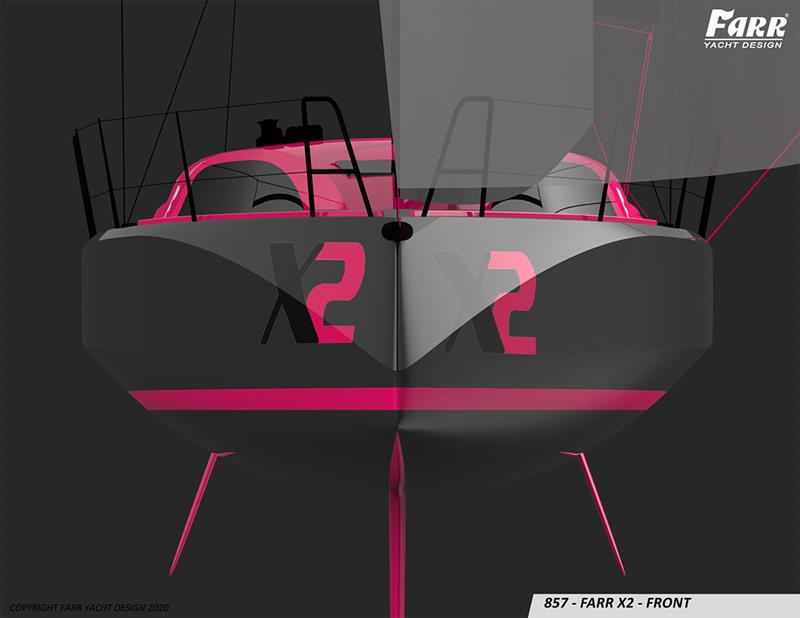 Unless it is overtaking you, you may not see this view too often - Farr X2 - photo © Farr Yacht Design