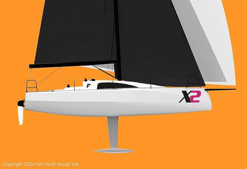 Once heeled over she'll have a very powerful form. Farr X2 - photo © Farr Yacht Design