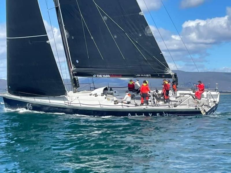 Alive sailing through Mercury Passage on Tasmania's east coast - TasPorts Launceston to Hobart Yacht Race - photo © Stephen McCullum