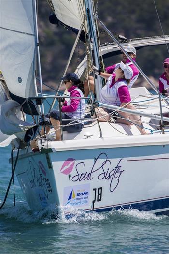 Soul Sister crew in race mode - SeaLink Magnetic Island Race Week © Andrea Francolini