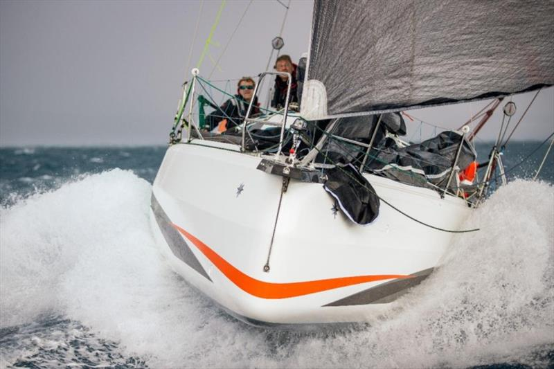 Third overall under IRC was Sebastien Saulnier's Sun Fast 3300 Moshimoshi. Racing with Christophe Affolter, Moshimoshi was the first team to finish the race in IRC Two-Handed - photo © James Mitchell / RORC