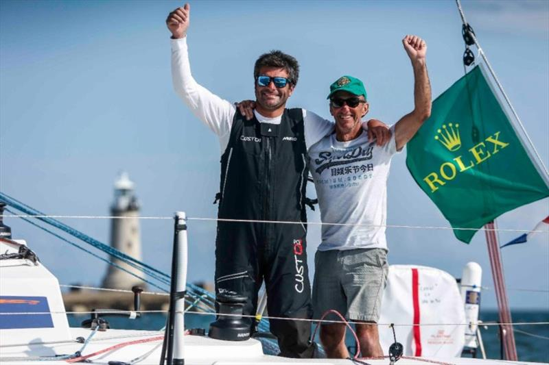 Defending their 2019 Rolex Fastnet Race IRC Two Handed title - Alexis Loison and Jean Pierre Kelbert on JPK 10.30 Léon - photo © Paul Wyeth / RORC