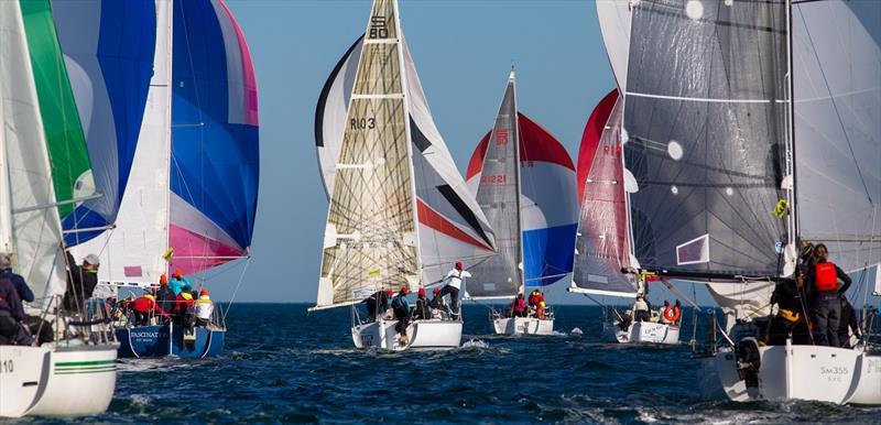A sea of colour - Australian Women's Keelboat Regatta - photo © Bruno Cocozza