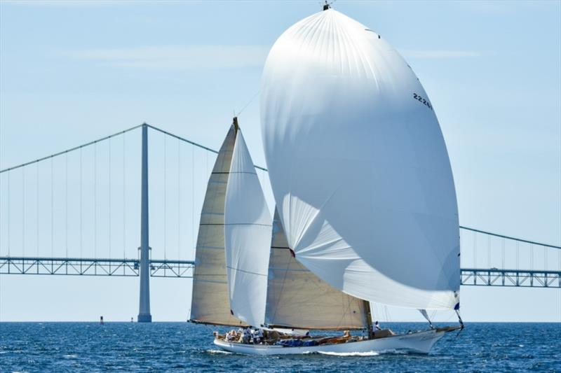 The 104-foot ketch Whitehawk, owned by Peter Thornton (Burr Ridge, Ill.), will return for Chicago Yacht Club's 2021 Race to Mackinac - photo © Ellinor Walters