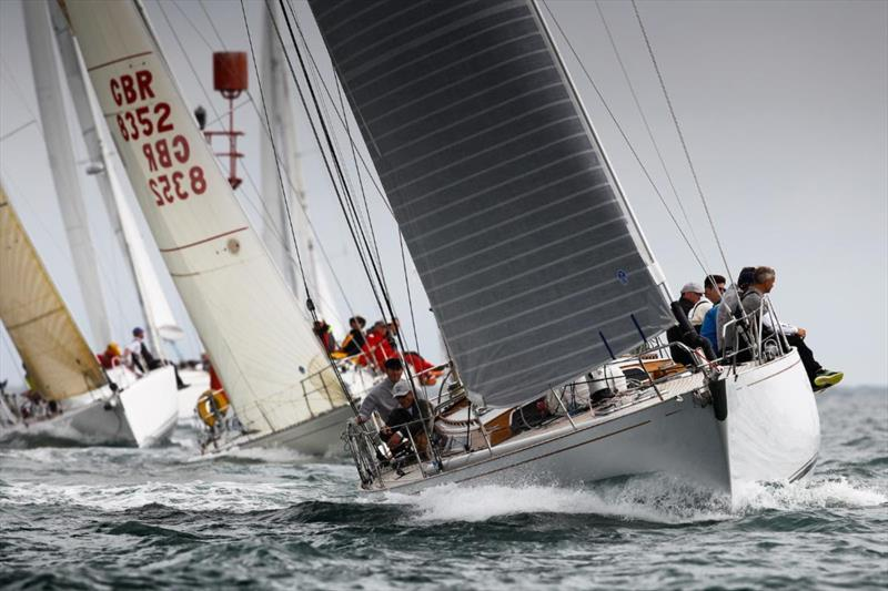 Richard Powell's Nicholson 55 Eager - one of several 'modern classic' yachts from the 1960s and 1970s competing in the Rolex Fastnet Race - photo © Paul Wyeth / Round the Island Race