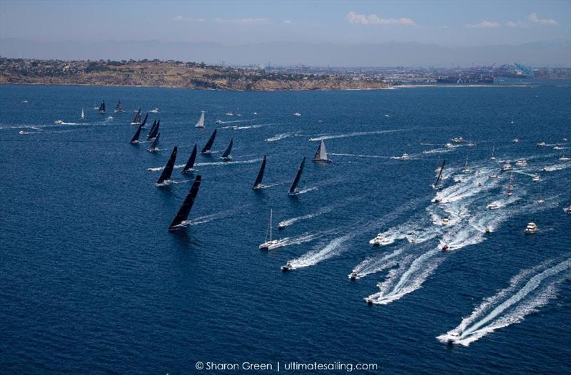 Huge spectator fleet at today's third and final start of 51st Transpac - photo © Sharon Green / Ultimate Sailing