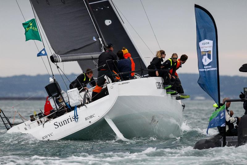 Sunrise, JPK 11.80 of Britain's Tom Kneen has been crowned overall winner of the Rolex Fastnet Race - photo © Paul Wyeth / www.pwpictures.com
