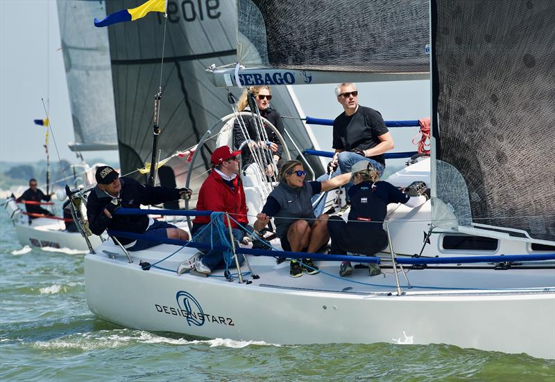 2018 Vice Admiral's Cup day 2 photo copyright Tom Hicks / www.solentaction.com taken at Royal Ocean Racing Club and featuring the J109 class