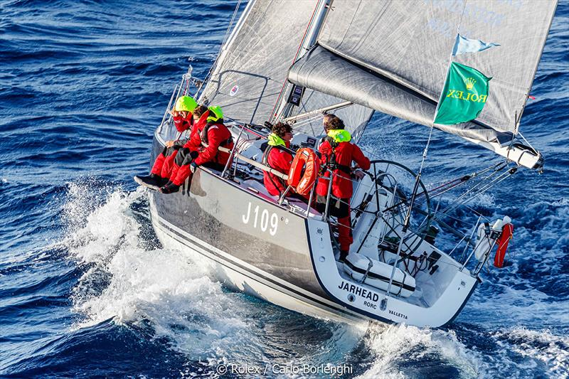 Rolex Middle Sea Race  - Jarhead; Sail n°: MLT 923; Model: J / 109; Entrant: Jarhead Foundation; Country: MLT; Skipper: Lloyd Hamilton; Loa: 10,74; IRC: Class 6 - photo © Rolex / Carlo Borlenghi