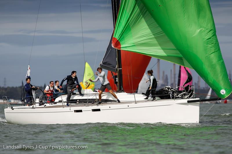 Christopher Daniels' J/122 Juno on day 2 of the 2020 Landsail Tyres J-Cup - photo © Paul Wyeth / www.pwpictures.com