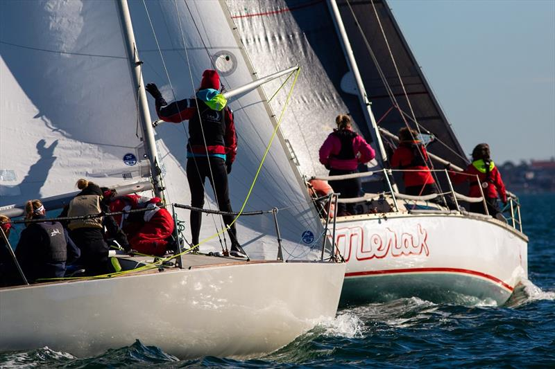 Gridlock and Merak sparring - Australian Women's Keelboat Regatta - photo © Bruno Cocozza / AWKR