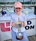 Maisie Richmond with the J70 Land Union Trophy in the Royal Southern YC's Land Union September Regatta 2020 © Louay Habib / RSrnYC