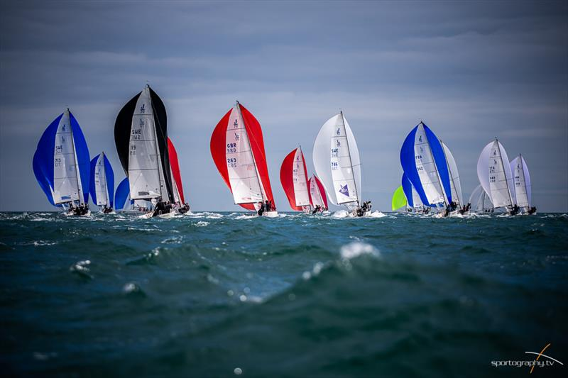 Darwin Escapes 2019 J/70 Worlds at Torbay day 2 - photo © www.Sportography.tv