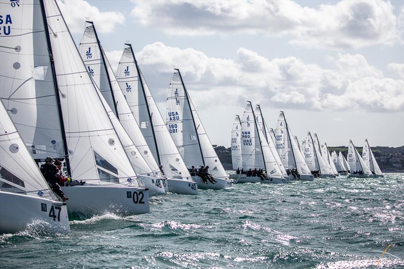 Darwin Escapes 2019 J/70 Worlds at Torbay day 3 - photo © www.Sportography.tv