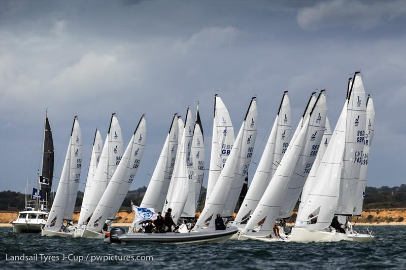 21 J/70 Teams racing on day 2 of the 2020 Landsail Tyres J-Cup - photo © Paul Wyeth / www.pwpictures.com