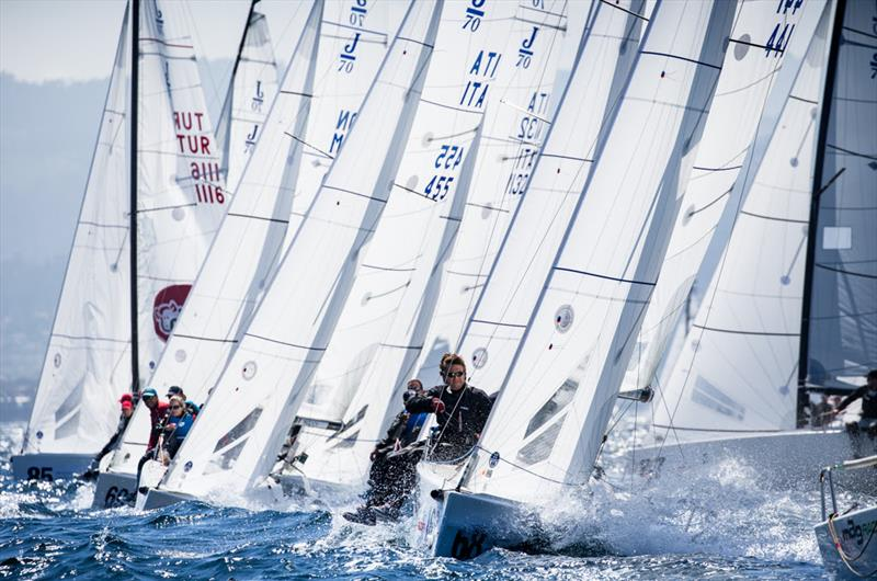 Day 3 of the Europeans in Vigo with a fleet of 69 photo copyright 2018 J/70 European Championships / www.sailingshots.es taken at Real Club Náutico de Vigo and featuring the J70 class