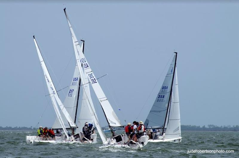 J70 fleet - 2019 Sperry Charleston Race Week, Day 1 photo copyright Jude Robertson / www.juderobertsonphoto.com taken at Charleston Yacht Club and featuring the J70 class