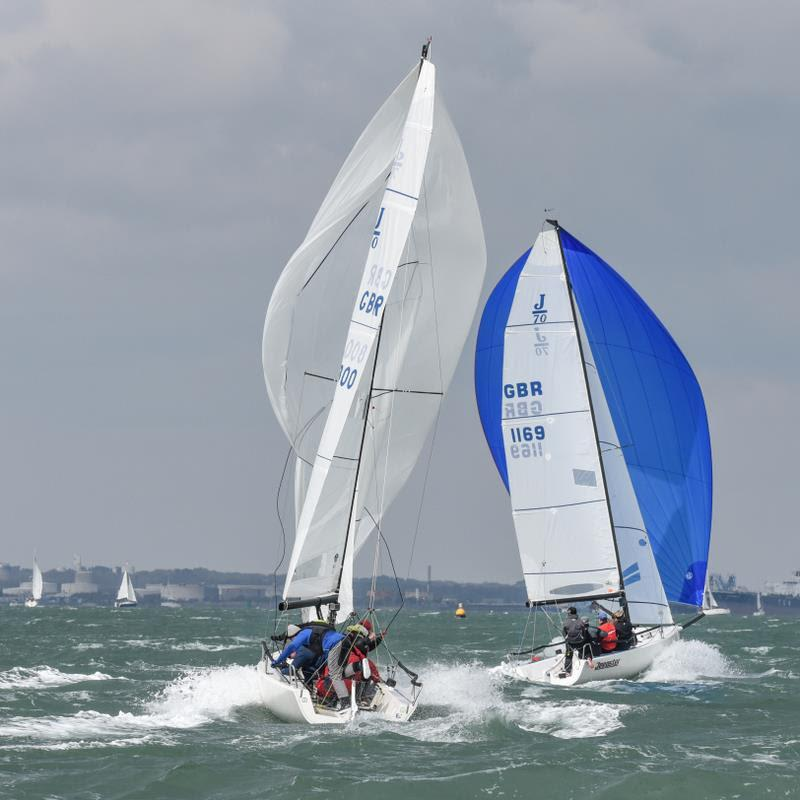Fresh to frightening, 25 knots of bitterly easterly in the last race, filled with aggression - J/70 UK Grand Slam Series 2019 photo copyright www.closehauledphotography.com taken at Warsash Sailing Club and featuring the J70 class