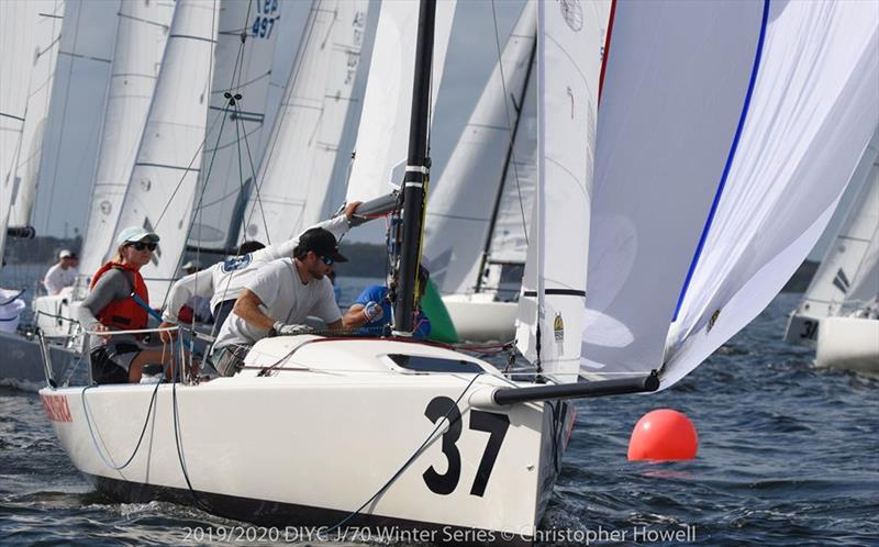 2019/2020 DIYC J 70 Winter Series 2 photo copyright Christopher Howell taken at Davis Island Yacht Club and featuring the J70 class