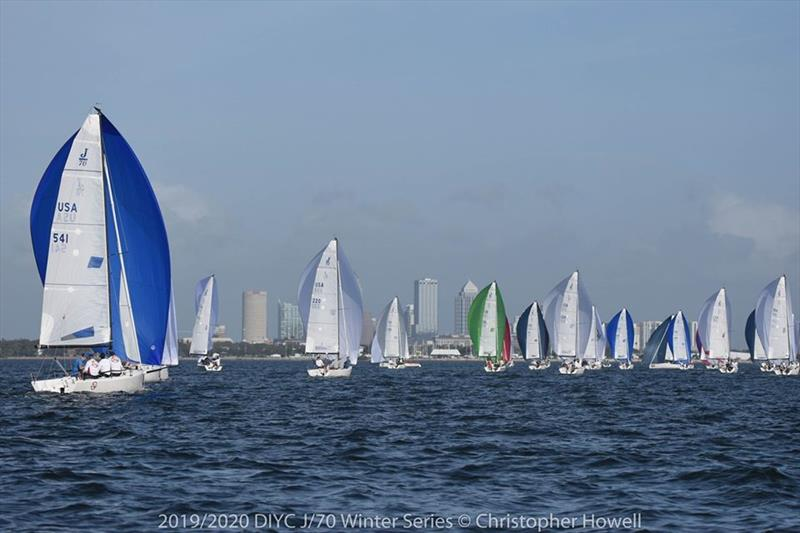 2019/2020 DIYC J 70 Winter Series 2 - photo © Christopher Howell