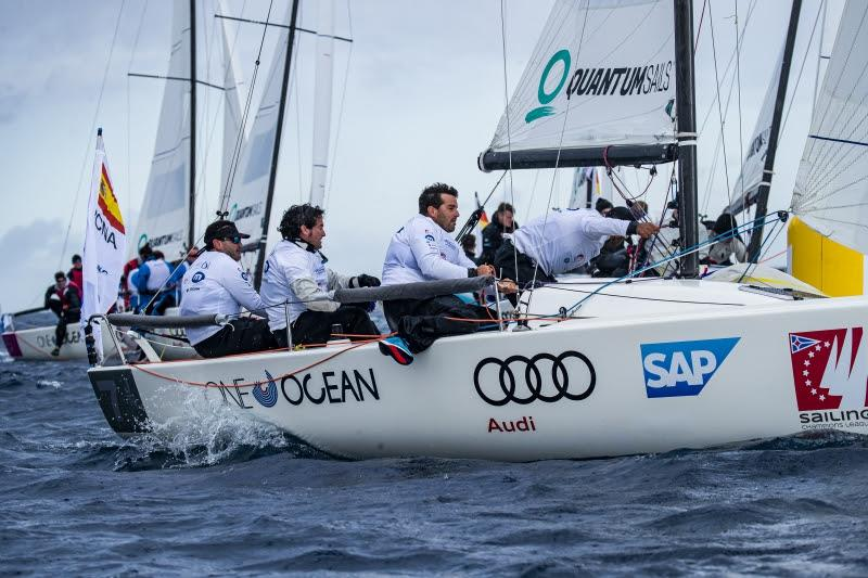The team from Club Náutico Arrecife, currently leaders overall - Audi SAILING Champions League Final 2020 - photo © SAILING Champions League / Sailing Energy