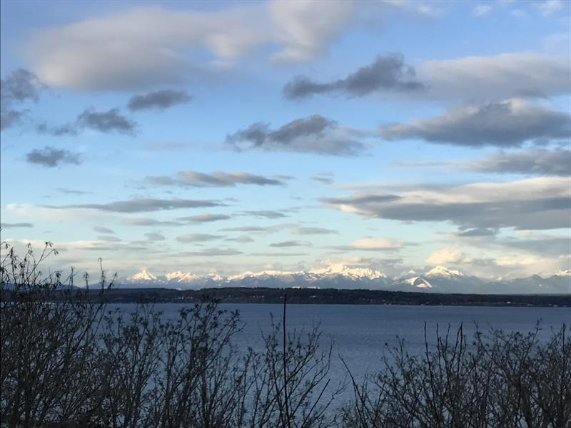 Puget Sound on a rare sunny winter morning, as seen from Sunset Hill Park - photo © Coreen Schmidt