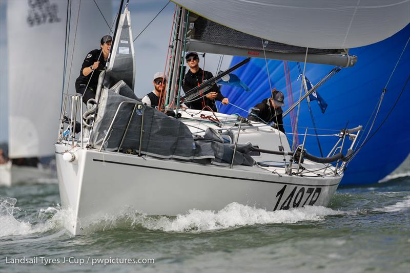 Nick Munday's J/97 Induljence on day 2 of the 2020 Landsail Tyres J-Cup - photo © Paul Wyeth / www.pwpictures.com