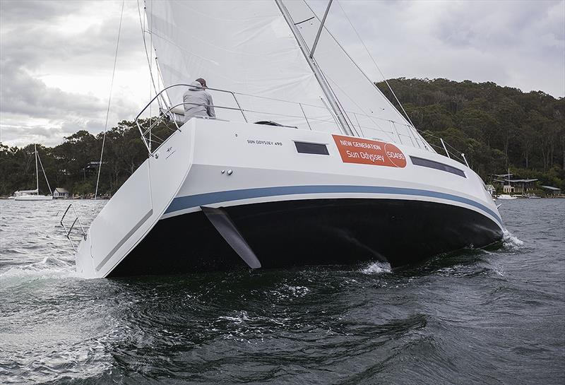 Very much designed to use her chine as part of her stability - Jeanneau Sun Odyssey 490 - photo © John Curnow