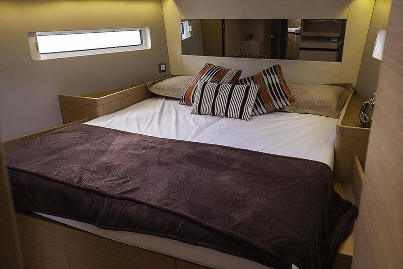 Owner's Stateroom up for'ard with loads of storage, and a walk around island bed - Jeanneau Sun Odyssey 490 - photo © John Curnow