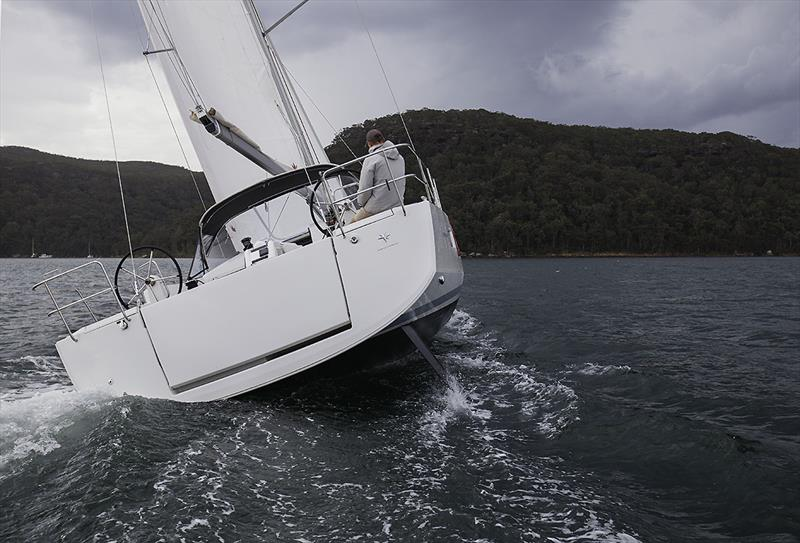 Single handed is dead easy with the Jeanneau Sun Odyssey 490 - photo © John Curnow