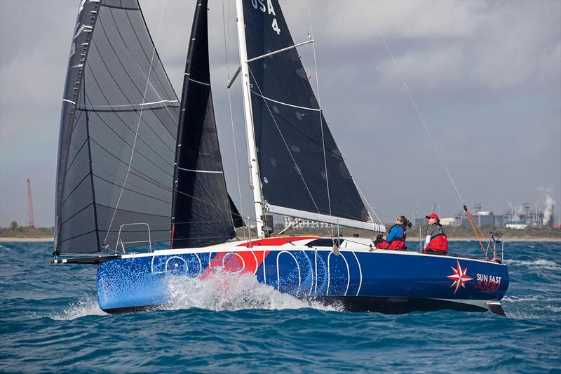 Ken Read and Suzy Leech sailing a Jeanneau Sun Fast 3300 in the 2020 Fort Lauderdale to Key West Race - photo © Image courtesy of Jeanneau America/Billy Black