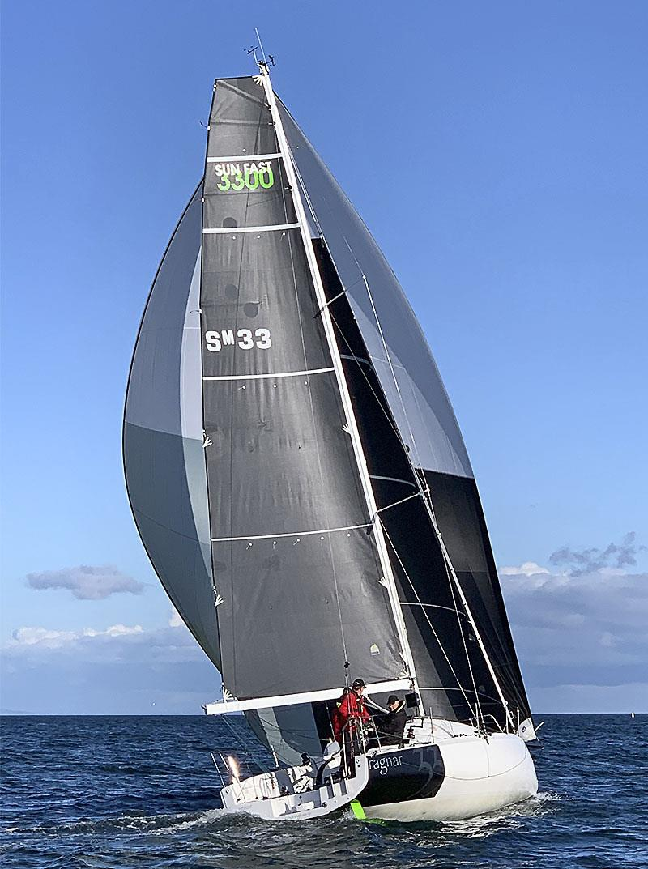 Sun Fast 3300 Ragnar, SM33, displays her downhill sail plan - photo © 38 South Boat Sales