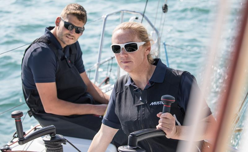 Double Olympic gold medalist Shirley Robertson and Volvo Ocean Race vetern Henry Bomby hope to represent the UK in the new Mixed Two Person Offshore Keelboat event at the Paris 2024 Olympics  - photo © Image courtesy of Tim Butt—www.vertigo-films.com