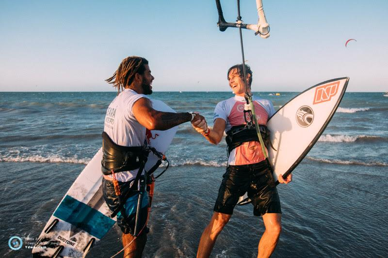 Airton and Evan - Day 1 - 2018 GKA Kite-Surf World Tour Prea, Round 6 - photo © Ydwer van der Heide