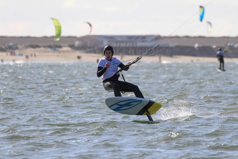 Kiteboard foiling at the Kitefoil Cup Holland 2018  photo copyright Gerard de Kok taken at  and featuring the Kiteboarding class