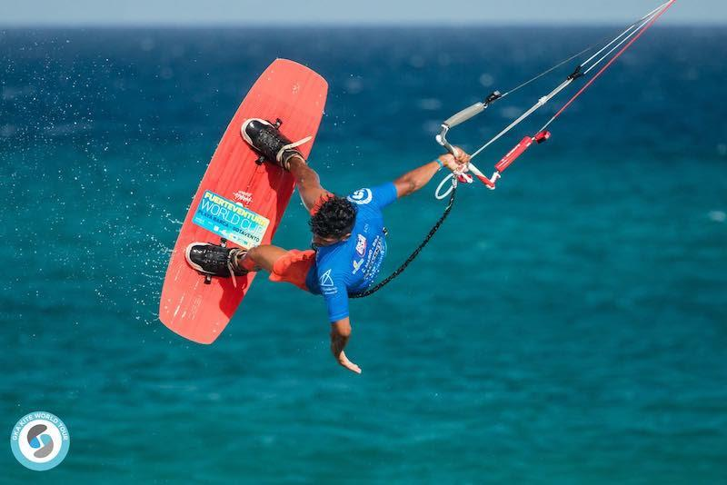 Carlos played it cool today.. but you can bet he'll be braced for battle in the semis - GKA Freestyle World Cup Fuerteventura 2019 - photo © Svetlana Romantsova