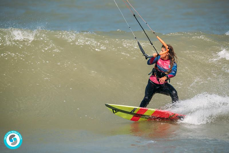 Carla has made more of her wave game this season - hence her position at the top of the leaderboard! - GKA Kite World Cup Dakhla, Day 10 - photo © Ydwer van der Heide