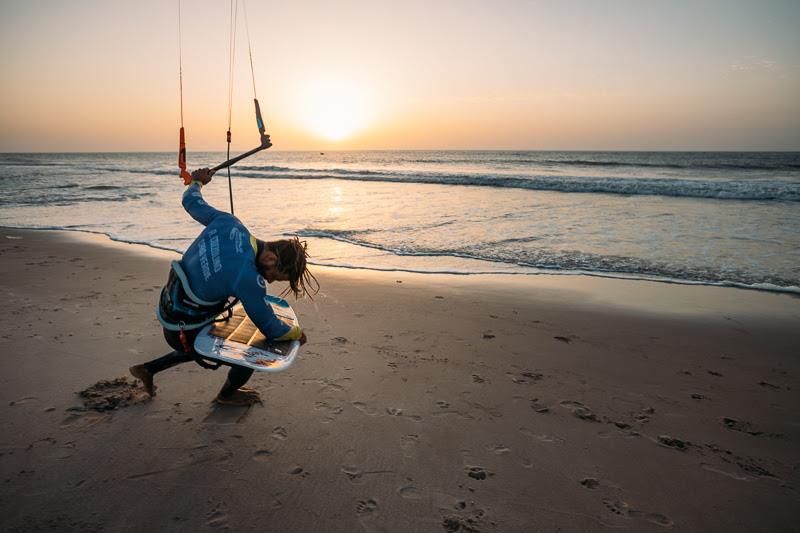 Airton was exhausted on Saturday night and relieved of the break... - GKA Kite World Cup Dakhla, Day 10 - photo © Ydwer van der Heide