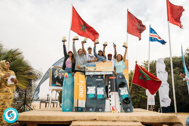 Freestyle podium winners from earlier in the week. - GKA Kite World Cup Dakhla, Day 10 - photo © Ydwer van der Heide