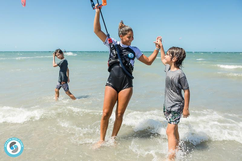 Young fans were impressed - GKA Kite-Surf World Cup Prea day 2 - photo © Svetlana Romantsova