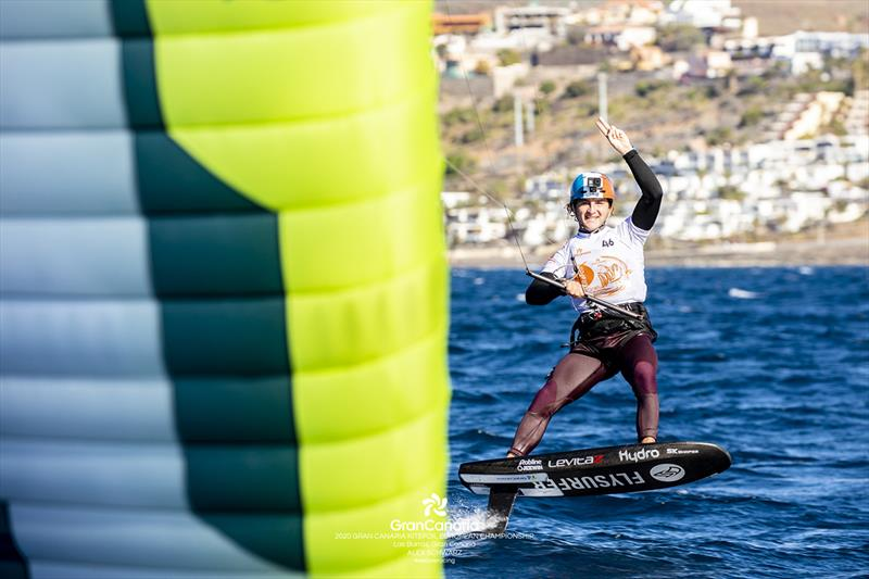 Theo de Ramecourt (FRA) sailed brilliantly all week to win the event overall - 2020 Gran Canaria KiteFoil Open European Championships photo copyright IKA Media / Alex Schwarz taken at  and featuring the Kiteboarding class