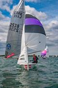 Larks at the 2019 Lymington Dinghy Regatta © RLymYC