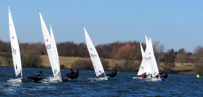 Close racing in the Laser fleet on day 8 of the Alton Water Frostbite Series - photo © Emer Berry